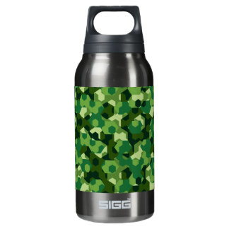Forest geometric camouflage insulated water bottle
