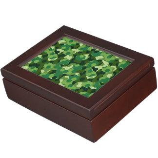 Forest geometric camouflage keepsake box