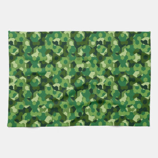 Forest geometric camouflage kitchen towel