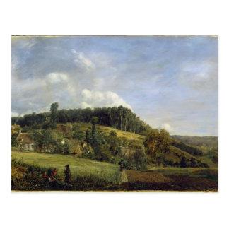 Forest Glade near a Village, 1833 Postcard