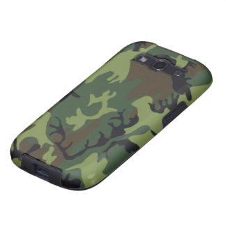 Forest Green and Brown Military Camo Galaxy SIII Covers
