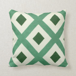 Forest Green and Dark Green Diamond Throw Pillow