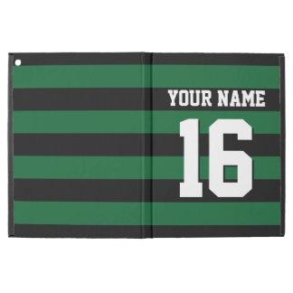 Forest Green Black Team Jersey Preppy Stripe
