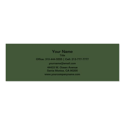 Forest Green Business Card