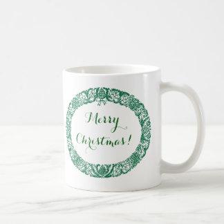 Forest Green Christmas Wreath to Customize Coffee Mug