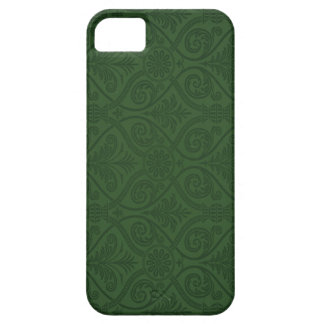 Forest Green Damask iPhone 5 Case