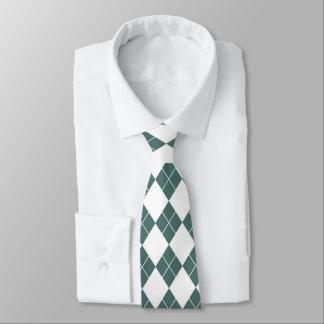 Forest Green Diamond Men's Tie