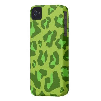 Forest Green Leopard Print - iPhone 4/4s Case