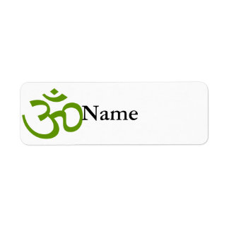 Forest Green Om or Aum ॐ.png Return Address Label