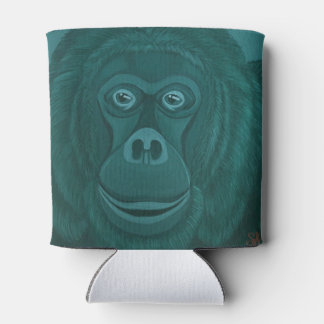 Forest green Orangutan Can Cooler