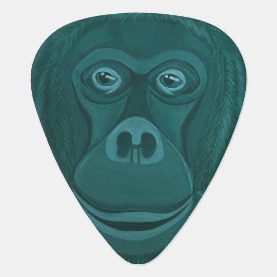 Forest Green Orangutan Guitar Pick