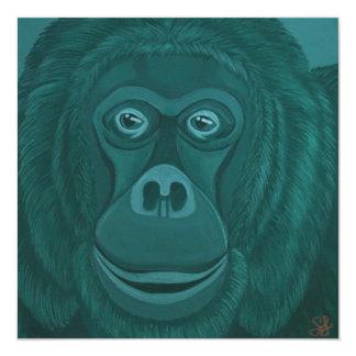 Forest Green Orangutan Invitations