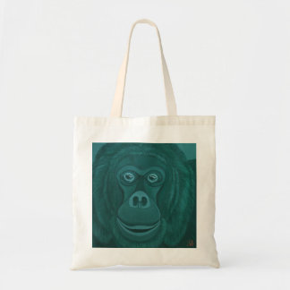 Forest Green Orangutan Tote Bag