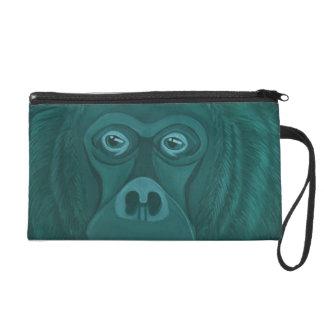 Forest Green Orangutan Wristlet