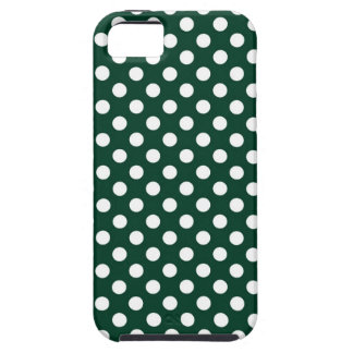 Forest Green Polka Dot iPhone 5 Cover