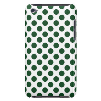 Forest Green Polka Dots Barely There iPod Case