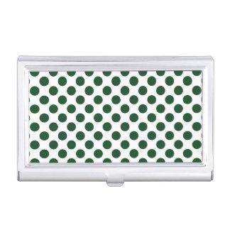 Forest Green Polka Dots Business Card Holder