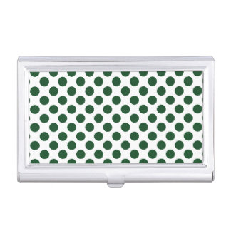 Forest Green Polka Dots Case For Business Cards