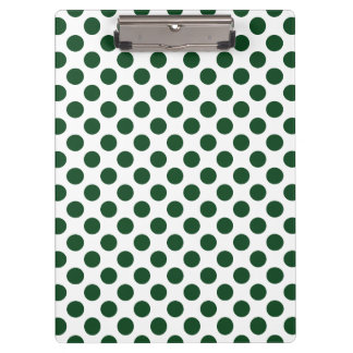 Forest Green Polka Dots Clipboard