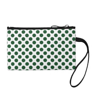 Forest Green Polka Dots Coin Purses