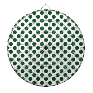 Forest Green Polka Dots Dartboard