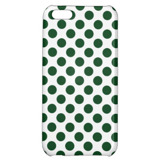 Forest Green Polka Dots iPhone 5C Case