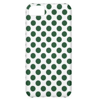 Forest Green Polka Dots iPhone 5C Cover