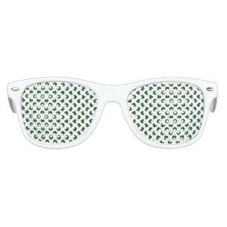 Forest Green Polka Dots Kids Sunglasses