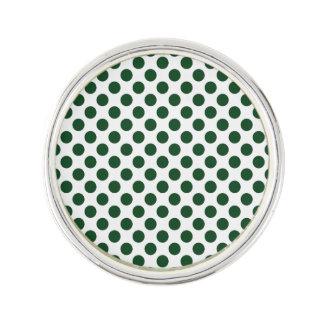 Forest Green Polka Dots Lapel Pin