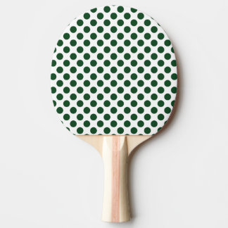 Forest Green Polka Dots Ping Pong Paddle