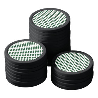 Forest Green Polka Dots Poker Chips