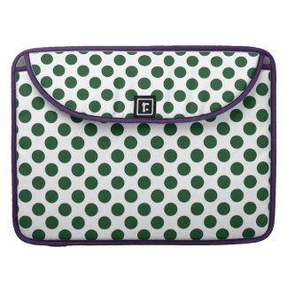 Forest Green Polka Dots Sleeve For MacBook Pro