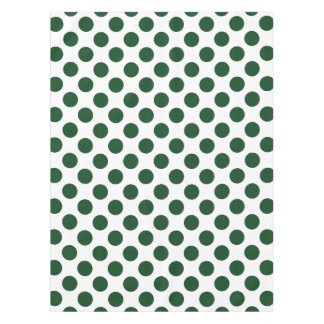 Forest Green Polka Dots Tablecloth