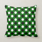 Forest Green Polka Dots Throw Pillow