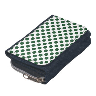 Forest Green Polka Dots Wallet