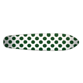 Forest Green Polka Dotsr Custom Skateboard