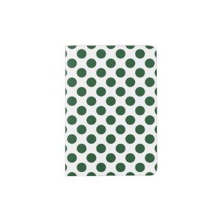 Forest Green Polka Dotsr Passport Holder