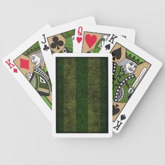 Forest Green Striped Deck Poker Deck