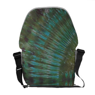 Forest Green Tie Dye Messenger Bag