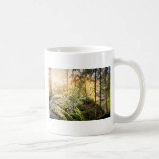 Forest green trees coffee mug