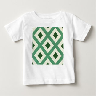 Forest Green Triangle Pattern Baby T-Shirt