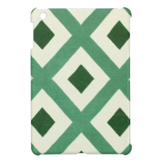 Forest Green Triangle Pattern iPad Mini Covers