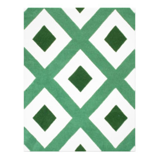 Forest Green Triangle Pattern Letterhead