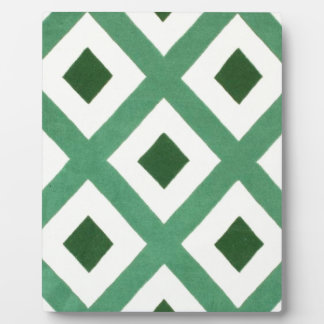 Forest Green Triangle Pattern Plaque