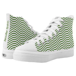 Forest Green Waves You Choose the Background Color
