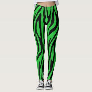 Forest Green Zebra Print Leggings