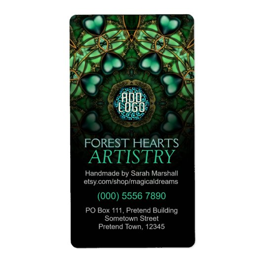 Forest Hearts Art Label Shipping Label