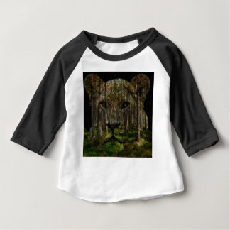 Forest inside a tiger baby T-Shirt