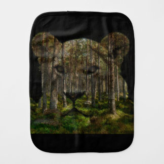 Forest inside a tiger burp cloth