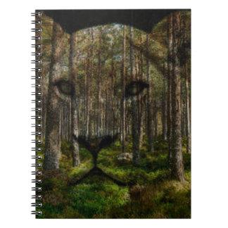 Forest inside a tiger notebooks